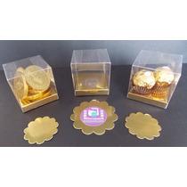 Caja Pvc (tipo Acetato ) Bombones Cubo 6cmc/zocalo - Pack 25