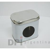 Lata Tapa Sombrero C/ Visor 10x7,5x10 De Alto Paq X 10u.