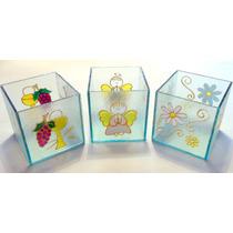 Fanal Vidrio Pintado 6x6cms Souvenirs Comunión-casamiento-15