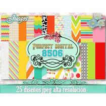Kit Imprimible Fondos Colores Niños Juegos Divertido Candy