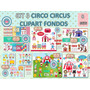 1 Kit Imprimible X 8 Sets Circo Decoraciòn Cuarto Niños 8x1