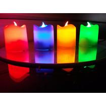 10 Velas De Led Luz Color Con Pilas Pack Centros De Mesa