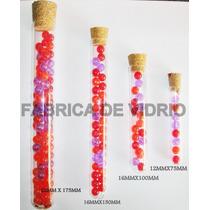 Tubos De Ensayo De Vidrio Con Tapon De Corcho,varias Medidas