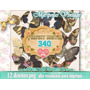 Kit Imprimible Mariposas Vintage Scrapbook Fondos Decoupage
