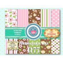 1 Kit Imprimible X 6 Set Granja Niño Niña Fondos P/ Candybar