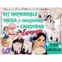 Kit Imprimible Esperanza + Candybar + Kit Escolar +canciones