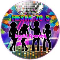 Kit Imprimible Fiesta Años 70 Cumpelaños Adulto Temático