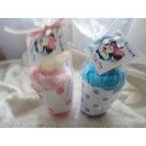 10 Souvenirs Cupcake De Toalla + Pirotin + Jabon Perfumado