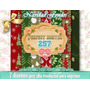 7 Papel Digital Vintage Scrapbook Sublimaciòn Retro Navidad
