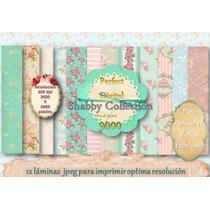 12 Fondos Shabby Chic Baby Shower Nacimiento Casamiento 15