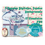 Kit Imprimible Scrapbook Decoupage Congelado Nieve Frio Azul