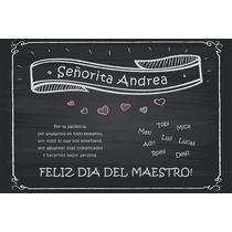 Diploma - Poster Personalizado - Dia Del Maestro - 45x30 Cm