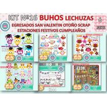 1 Kit Imprimible X 6 Sets Lechuzas Buhos Festivo Festejo Año
