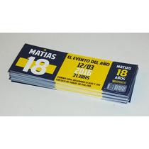 Invitaciones - Tickets Troquelados - Varones - 20 Unidades