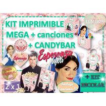 Cumpleaños Decoraciòn Candybar Esperanza Mia Invitacion 2x1