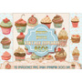 Kit Imprimible 12 Jpeg Cupcakes Muffins Decoupage Cocina 2x1