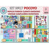 1 Kit Imprimible X 6 Sets Pocoyo Clipart Fondos P/candybar