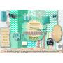Papeles Digitales Aguamarina Decoupage Scrapbook Candybar