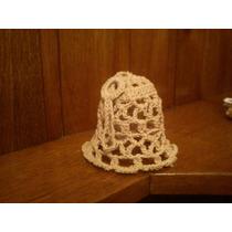 Campanita Navideña Tejida Al Crochet.
