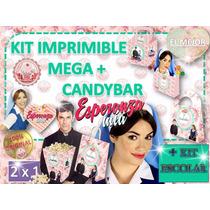 Cumpleaños Cotillon Esperanza Mia + Candybar + Kit Escolar