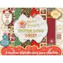 Kit Imprimible 6 Fondos Navidad Infantiles + Moldes Bolsitas
