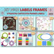 1 Kit Imprimible X 6 Etiquetas Labels P/ Cumpleaños Cajitas