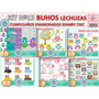 1 Kit Imprimible X 6 Sets Lechuzas Buhos P/ Cotillon Estampa