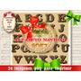 Alfabeto Navidad 26 Png Decoupage Scrapbook Sublimación 2x1