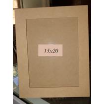 10 Portaretratos Para Foto 15x20. Fibrofacil-con Vidrio