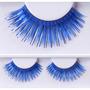 Pestañas Postizas Fantasia Artisticas Azules Con Pegamento