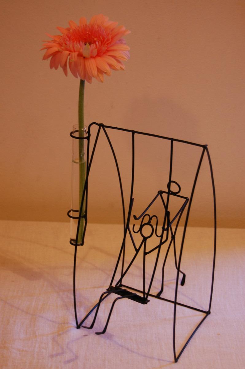 centro de mesa pareja con florerito parejas centro de mesa con
