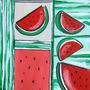 Cuadro Moderno Decoración Diseño Frutas Acrílico A Mano