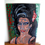 Pintura Amy Winehouse - Acrílico Sobre Madera