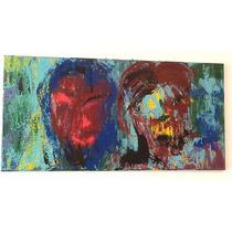 Pintura Moderna Acrílico Abstracto Autor Anonimo