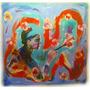 Cuadro Pintura Frida Díptico, Varios Acríclico