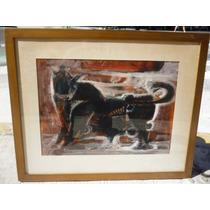 Pintura Oleo Toro Ponciano Cardenas C./72 .-68x55