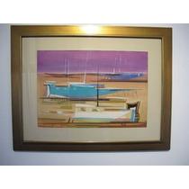 Pintura Barcas Vicente Forte Original. Con Certificado