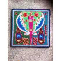 Cuadro De Arte Huichol En Estambre, Artesanía Mexicana