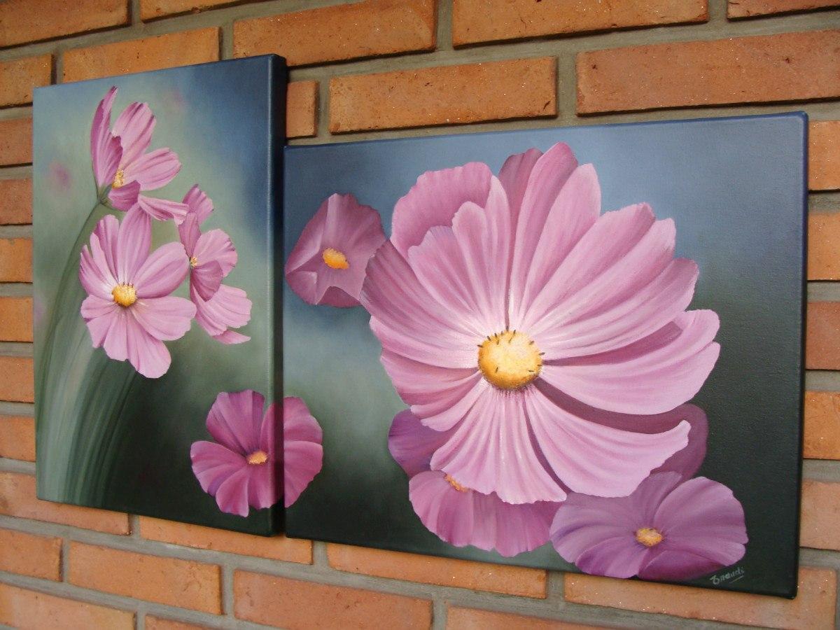 Cuadros al oleo de flores grandes cuadros pinterest - Cuadros con fotos originales ...