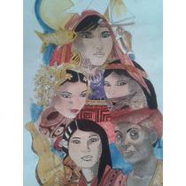Dibujos De Artista Panameño -etnias Y Folckore De Panamá