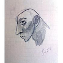 Ernesto Scotti Dibujo Original, Lapiz Sobre Papel 20 X 28