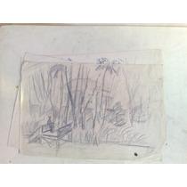 Ernesto Scotti Dibujo Original Lapiz Sobre Papel 20 X 28 Cm