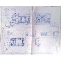 Ernesto Scotti Dibujo Original Lapiz Sobre Papel 37 X 50 Cm