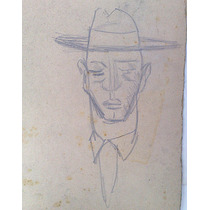 Ernesto Scotti Dibujo Original, Lapiz Sobre Carton 23 X 35cm