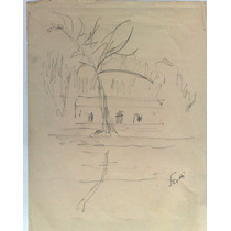 Ernesto Scotti Dibujo Original, Lapiz Sobre Papel 21 X 32cm