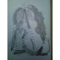 Violoncello - Dos Dibujos Originales De Guillermo Roux