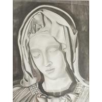 Cuadro Lápiz La Pieta Miguel Angel