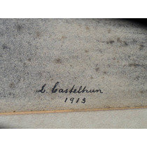 Marina Lapiz S/ Papel Firmado Castelhun Principios Xx