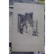 Importante Dibujo Lapiz Viejo Anonimo (consult Stock)