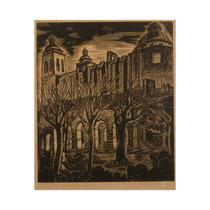 Xilografía Original Alberto Nicasio Convento San Francisco